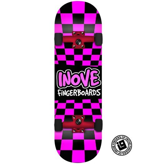 Fingerboard Completo Inove - Pink Grid