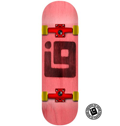 Fingerboard Completo Inove - Colors Vermelho