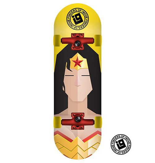 Fingerboard Completo Inove - Heróis - Mulher Maravilha