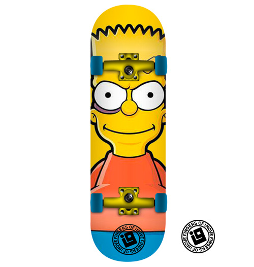 Fingerboard Completo Inove - Bart Simpsons