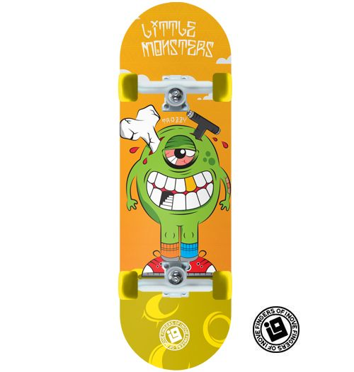 Fingerboard Completo Inove Premium - Collab Mateus Freitas Little Monsters Trazzy