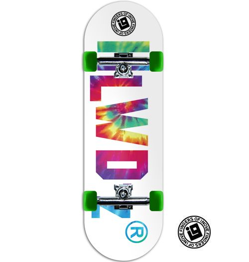 Fingerboard Completo Inove Premium - Collab Hollywoodogz Logo Tie Dye
