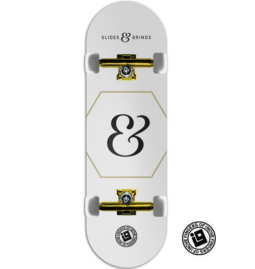 Fingerboard Completo Inove Premium - Collab Slides & Grinds White