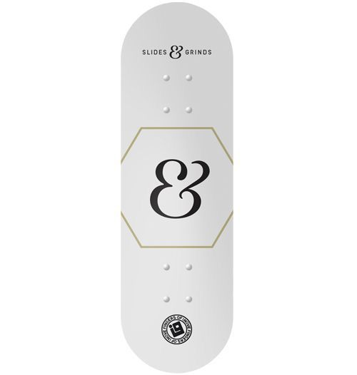 Deck Inove - Collab Slides & Grinds White - 34mm