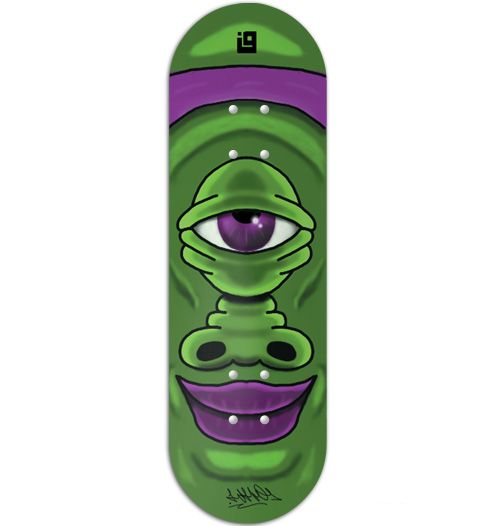 Deck Inove - Collab Whograff Green Monster - 34mm