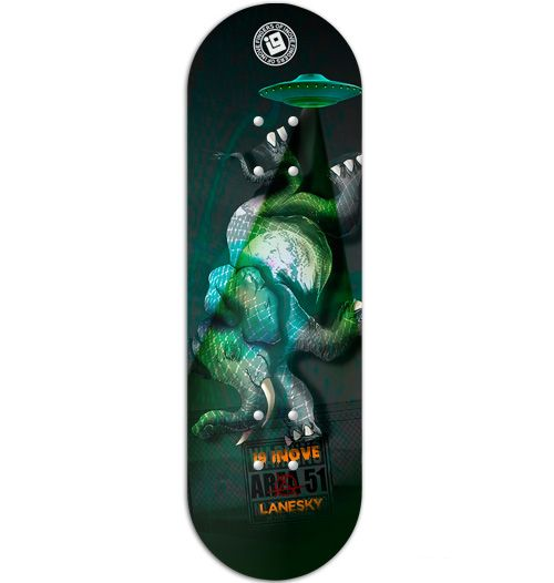 Deck Inove - Collab Lanesky The Elephant - 34mm