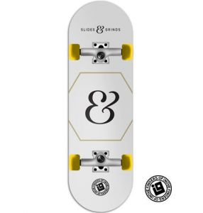 Fingerboard Completo Inove - Collab Slides & Grinds White